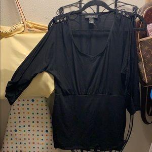 Black White House black market blouse